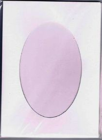 A5 White Oval Aperture Card Blanks & Envelopes (4 PACK)